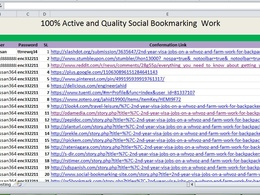 Do 100 Quality Manually Social Bookmarking to increase your SEO