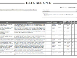 Design a data scraper for data mining on any specified website
