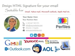 Design HTML Email Signature for your email