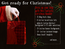 Get ready for Christmas | Xmas Bundle for your Blog/Website/Social Media Pages, etc.