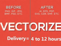 Vectorize your Logo or Image in 4 to 12 hours