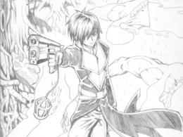 Draw manga/anime illustration