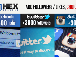 Add 1,500 Genuine Facebook or 3,000 Twitter or 3,000 Instagram Followers or Likes