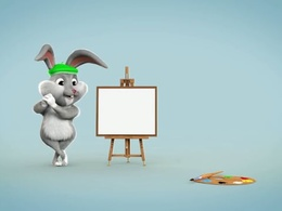 Create Bunny Video to paint your logo
