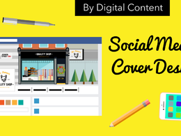 Design eye catching  unique social media cover for Facebook twitter,google +