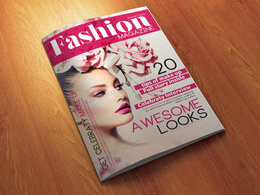 Design any magazine cover for 10 pound