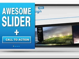 Make outstanding Revolution Slider, Layer Slider or any slider Design for you Website