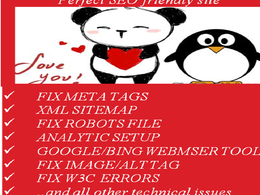 Quick fix for On page/on site SEO issues