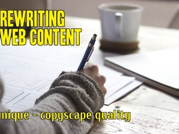 Rewrite any article up to 500 words into a UNIQUE one, Copyscape Quality