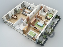 Design a 3D Floor Plan or a model Sketchup