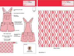 Create 1 Fashion Technical Drawing (front & back view)