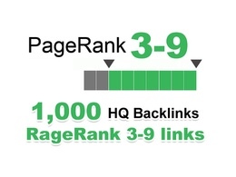 Give you 1000 PR 3-9 backlinks