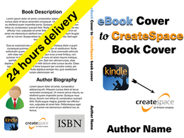 Convert ebook cover to createspace book cover in 24H