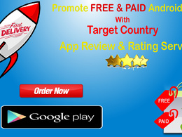 Promote your Android app with Target Countries using 50 rating and review