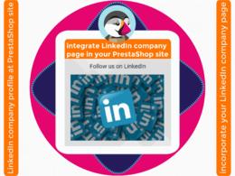 Integrate LinkedIn company profile URL in your PrestaShop site