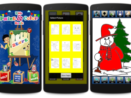 Develop and Design Kids coloring book Android app