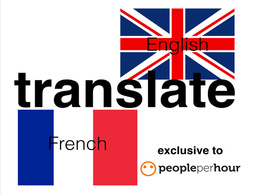 Translate 500 words from English to French or English to French
