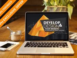 Develop & Design your website with responsive SEO friendly WordPress