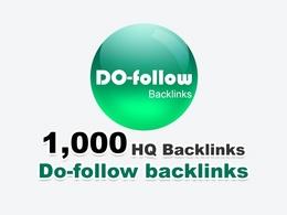 Get 1000 do-follow backlinks