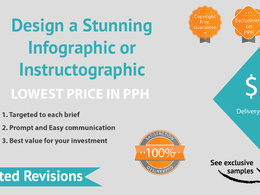 Design a Stunning Infographic or Instructographic with Unlimited Revisions