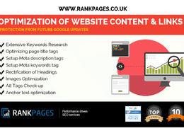 On-Site SEO Package: Optimization of Website Content & Links