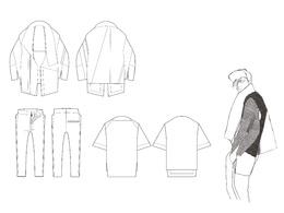 Create a fashion design technical drawing