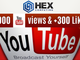 Add 3,000 Real Youtube Views AND 300 Real Youtube Likes