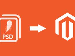 Convert the PSD files into Magento