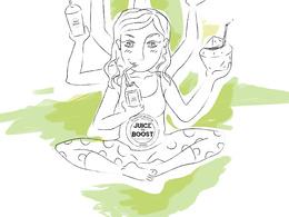 Make food Illustration for your Blog, Cook Book, Recipes or menu