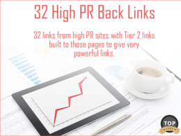 Build 32 High PR Links with Tier 2 Links