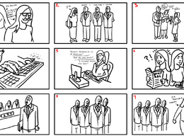 Create a storyboard page  (9 frames) for productions and presentations