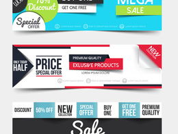 Design a beautiful, eye catching HTML, Facebook or marketing banner of your choice.
