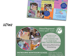 Transform an advert, graphic, poster or flyer for you to make it more professional