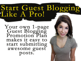 Create your guest post publishing - guest blogging promotion plan