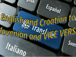 Translate 1000 Words from English or Croatian to Slovenian and Vice Versa