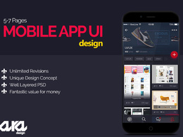 Mobile App UI UX  design for Android, iOS, Windows o