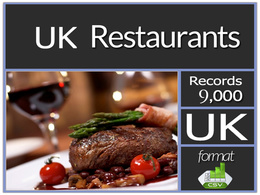Send you current UK 9000 plus Restaurants contacts including email address