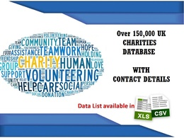 Give 100,000 Database of UK registered Charities