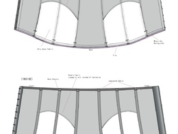 Create a technical CAD drawing for lingerie, swimwear and sportswear garments