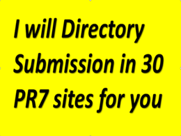 Offer 20 directory submission for you