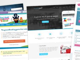 Create an awesome high-fidelity homepage design mockup (PSD)