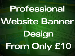 Design eye catching website banners