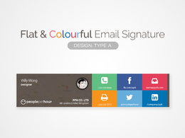 Provide you a flat colorful or single color email signature