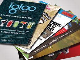 Design attractive looking postcard, flyer, banner, leaflet, brochure, menu card, etc.