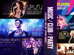 DJs Facebook Timeline Design & Facebook Timeline Covers|PSDs