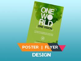 Design Double Side Poster, Brochure, Flyer,leaflet,Advertisement