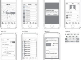Draft wireframe & UI prototyping for mobile app
