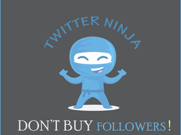 Organically Grow Your Twitter Account With High Quality Followers for 1 week