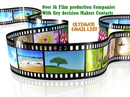Give you over 3000 email list of film production companies in UK