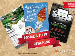 Design your flyer, leaflet, poster, advertisement